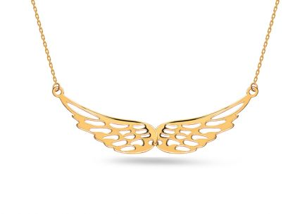 Collier en or ailes d'ange